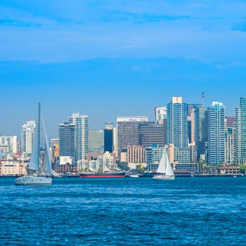 Image of San Diego skyline and harbor