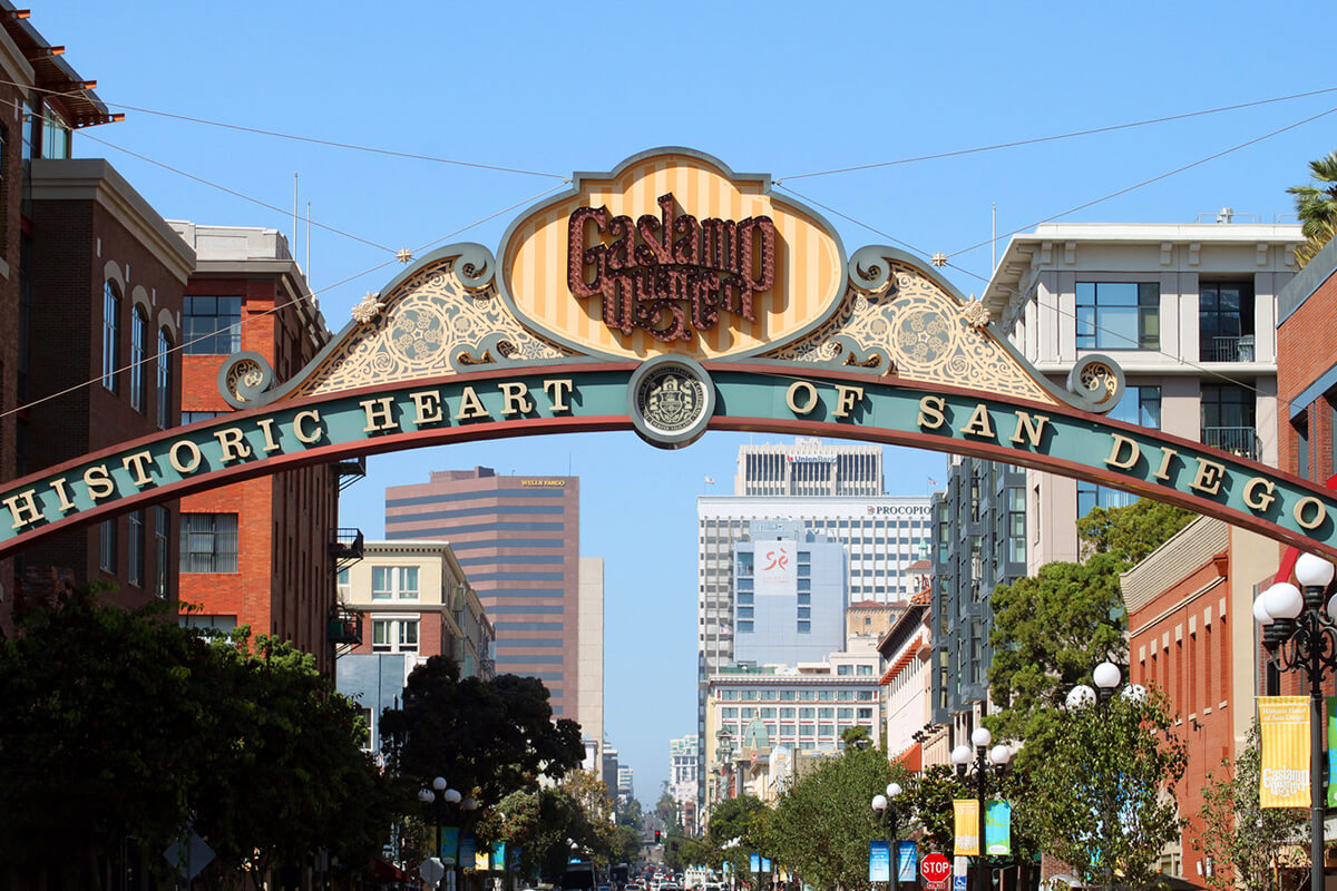 Image of Gaslamp Quarter Sign in Old Town San Diego