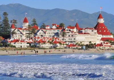 Hotel del Coronado from the ocean