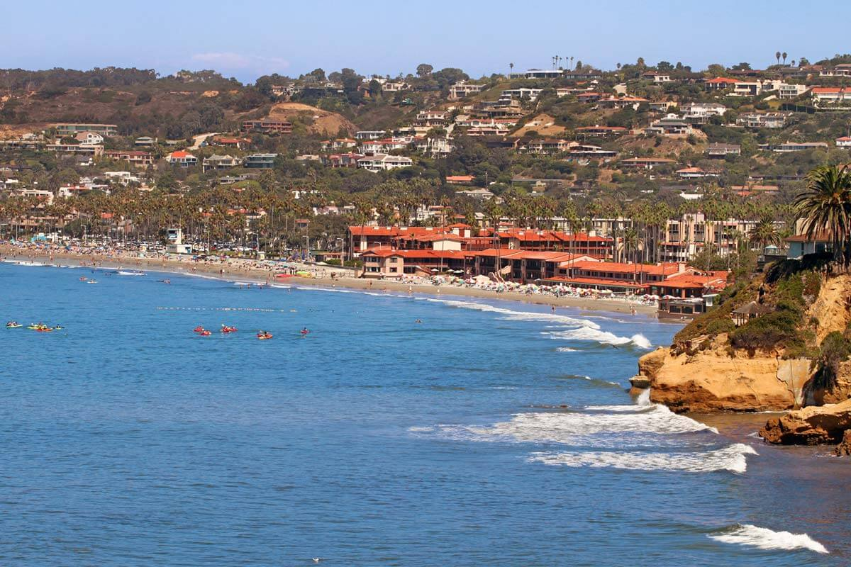 Image of La Jolla from ocean