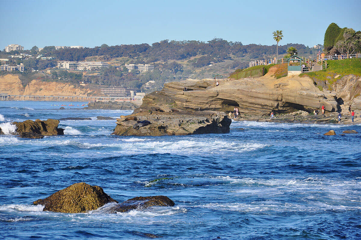 Image of La Jolla cove from water
