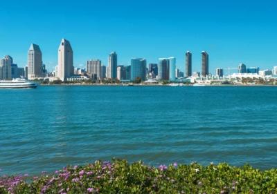 Image of San Diego skyline from Coronado