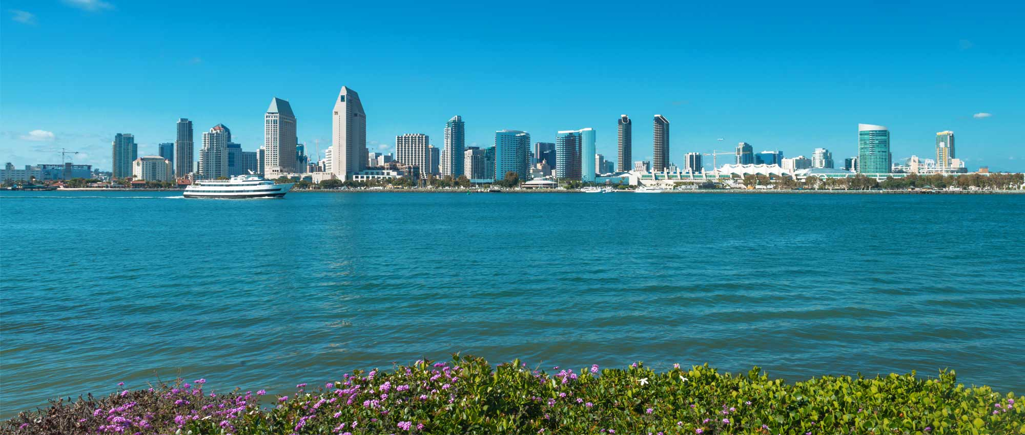 Image of San Diego skyline from Coronado