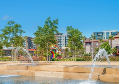 Image of fountains at Seaport Village