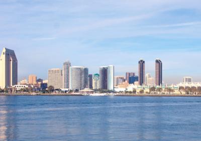 Image of San Diego Skyline from ocean