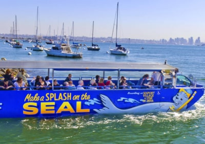 Image of San Diego boat tours entering water