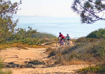 couple biking at Torrey Pines State Park