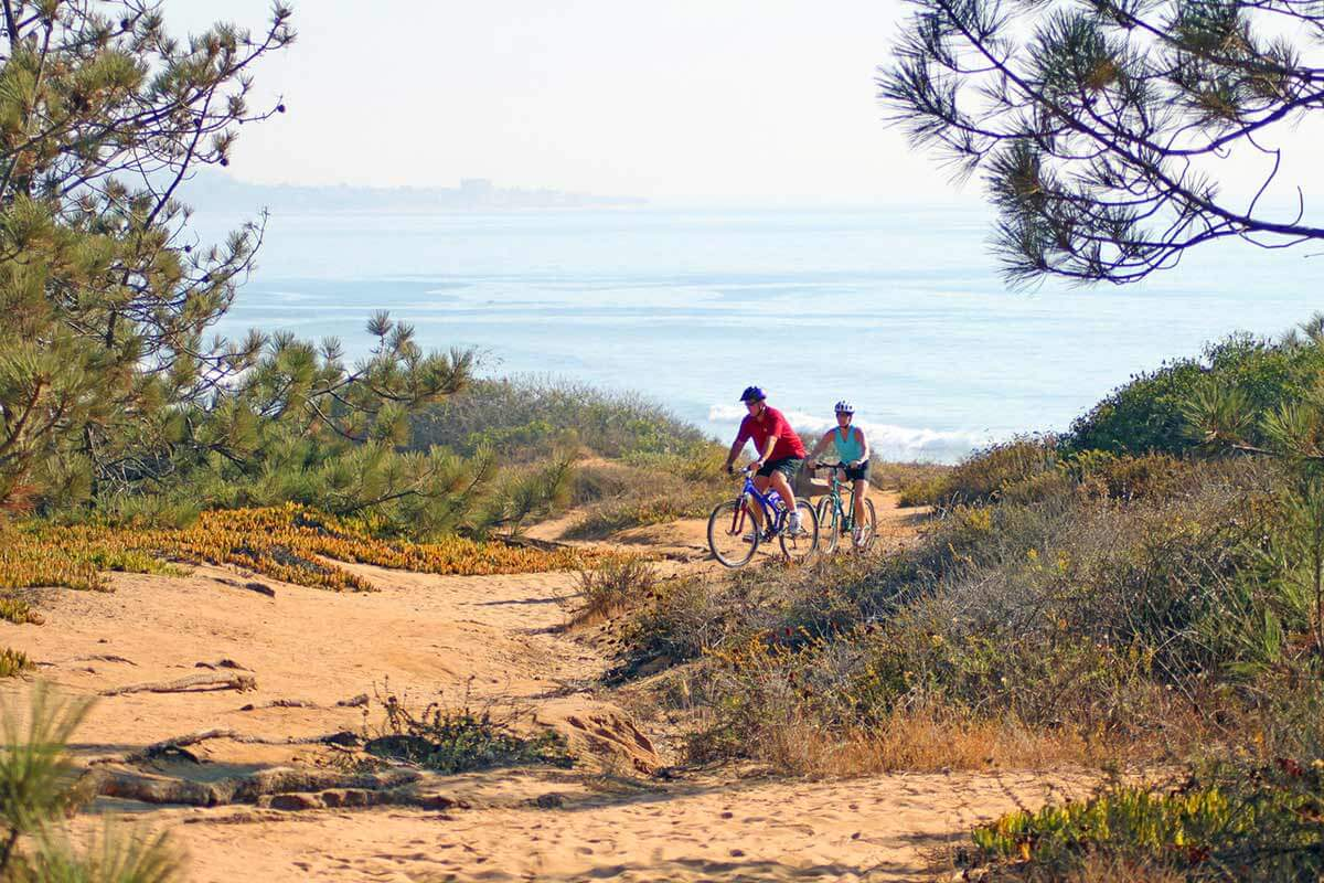 Image of couple biking at Torrey Pines State Park