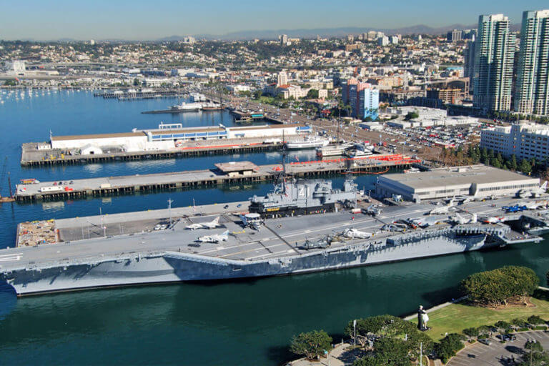Image of USS Midway from above