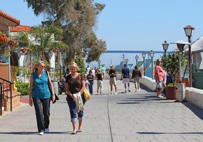 Seaport village boardwalk