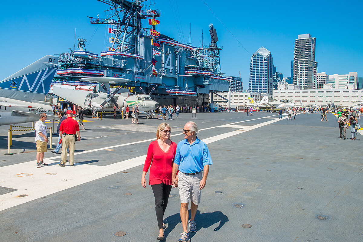 couple at San Diego USS Midway