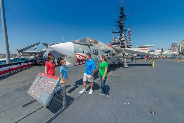 san diego uss midway and family