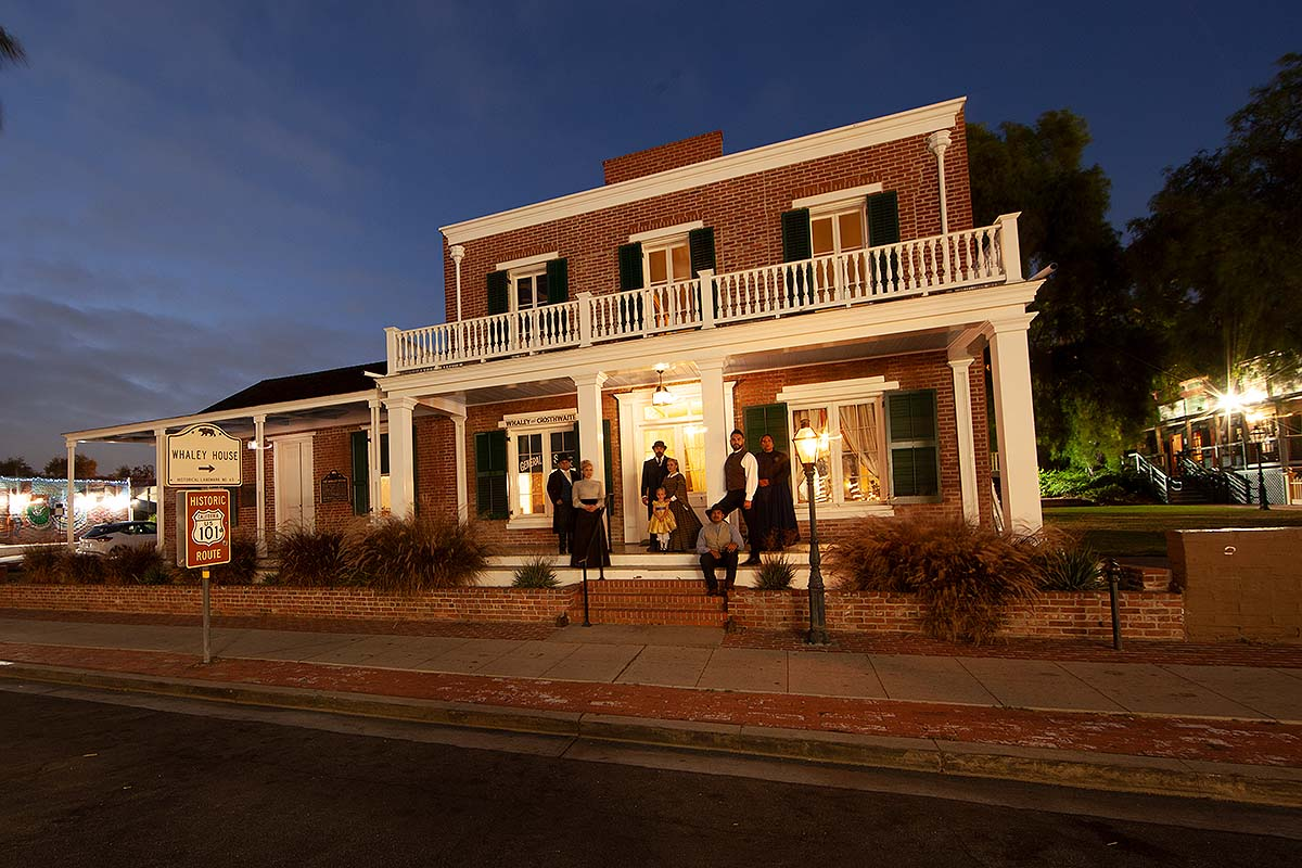 San Diego Whaley House in the evening